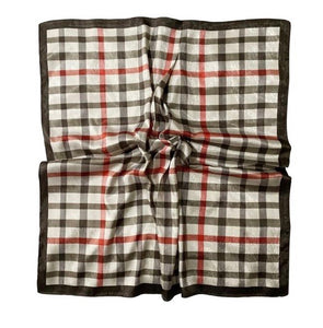 Silky Effect Checked Square Scarf