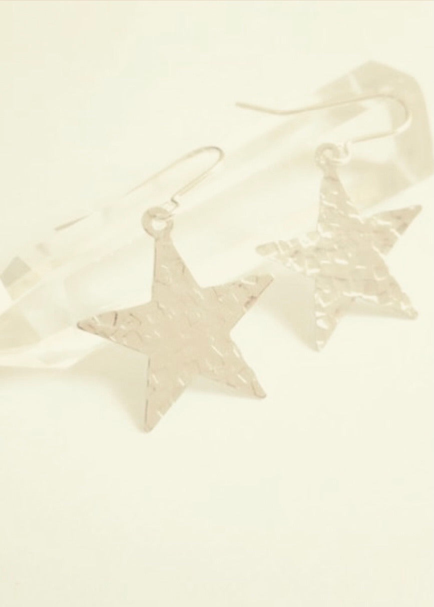 Stuff Made From Things Silver Star Earrings