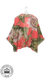 One Hundred Stars & KEW RBG Passion Flower Coral Kimono