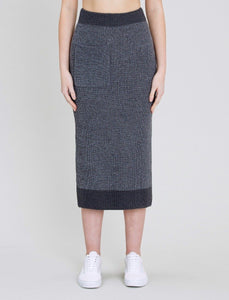 Native Youth Grey Contrast Pocket Skirt
