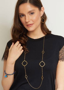 Ashiana Ines Shadow 22 carat Gold Plated Necklace