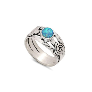 Sands Silver Floral Opal Ring - Sands Boutique clothing and gifts