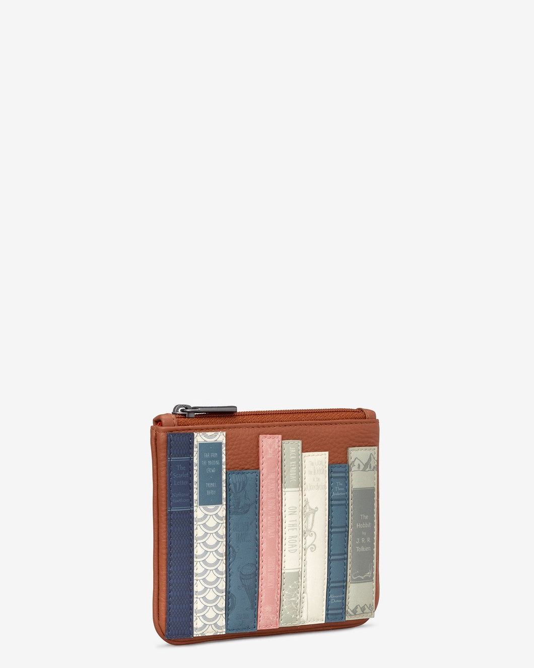 Yoshi Bookworm Tan Leather Caxton Purse - Sands Boutique clothing and gifts