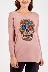 Sands Skull Long Sleeved T Shirt.