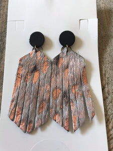 Bella Boo Leather Animal Print Earrings Style 3