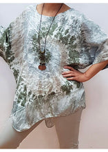Sands Made In Italy Tie Dye Asymmetric Silk Hem - 2 colours