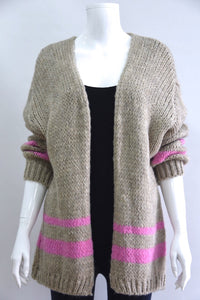 Sands Morgan Chunky Striped Cardigan