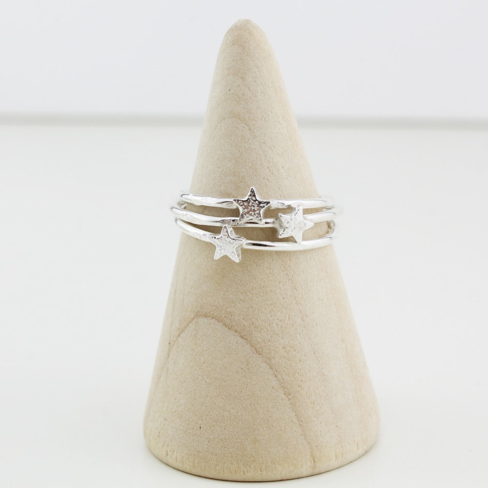 Lucy Kemp - Sterling Silver Stacker Ring Star