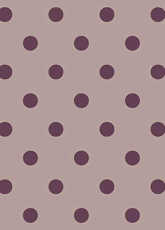 Broste Dot Tea Napkin - Plum