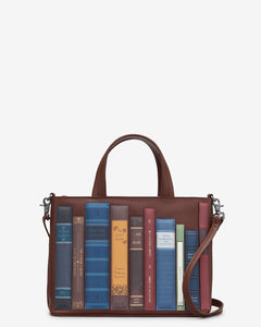 Yoshi Bookworm Brown Leather Multiway Grab Bag