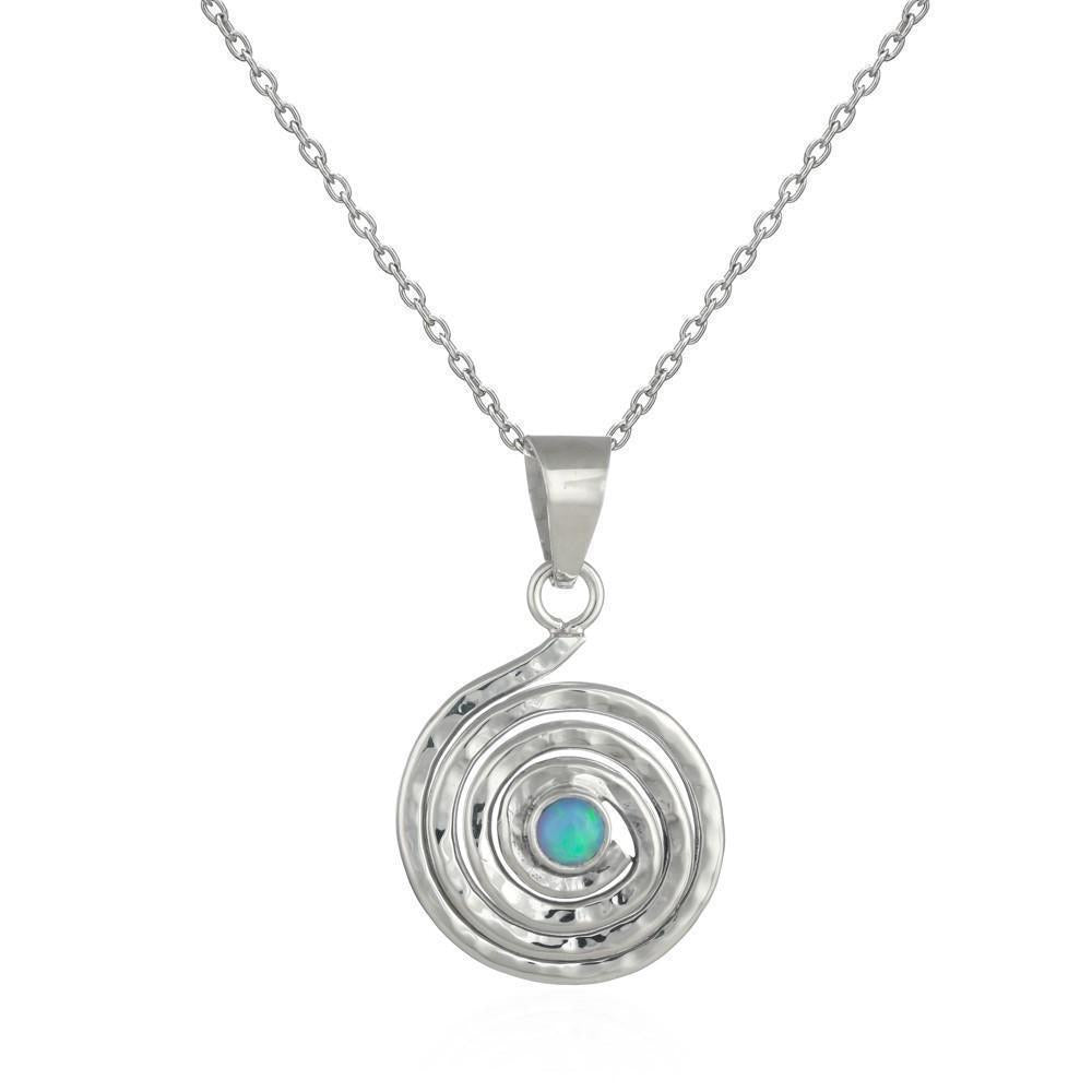 Sands Silver Spiral Opal Pendant - Sands Boutique clothing and gifts