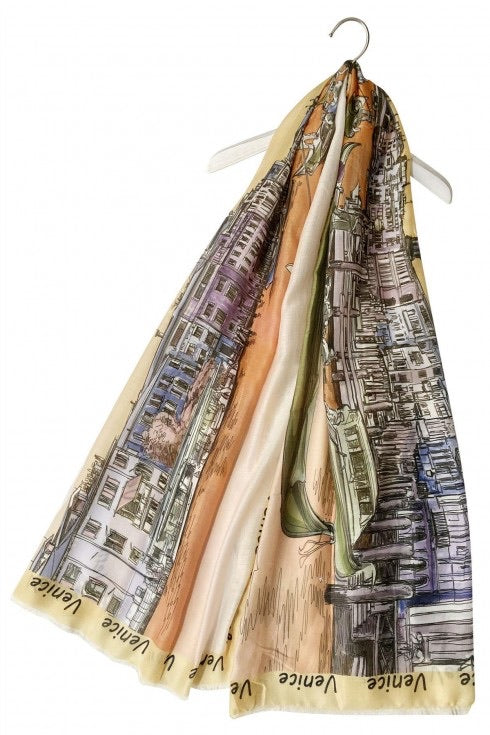 Venice Map scarf - Sands Boutique clothing and gifts