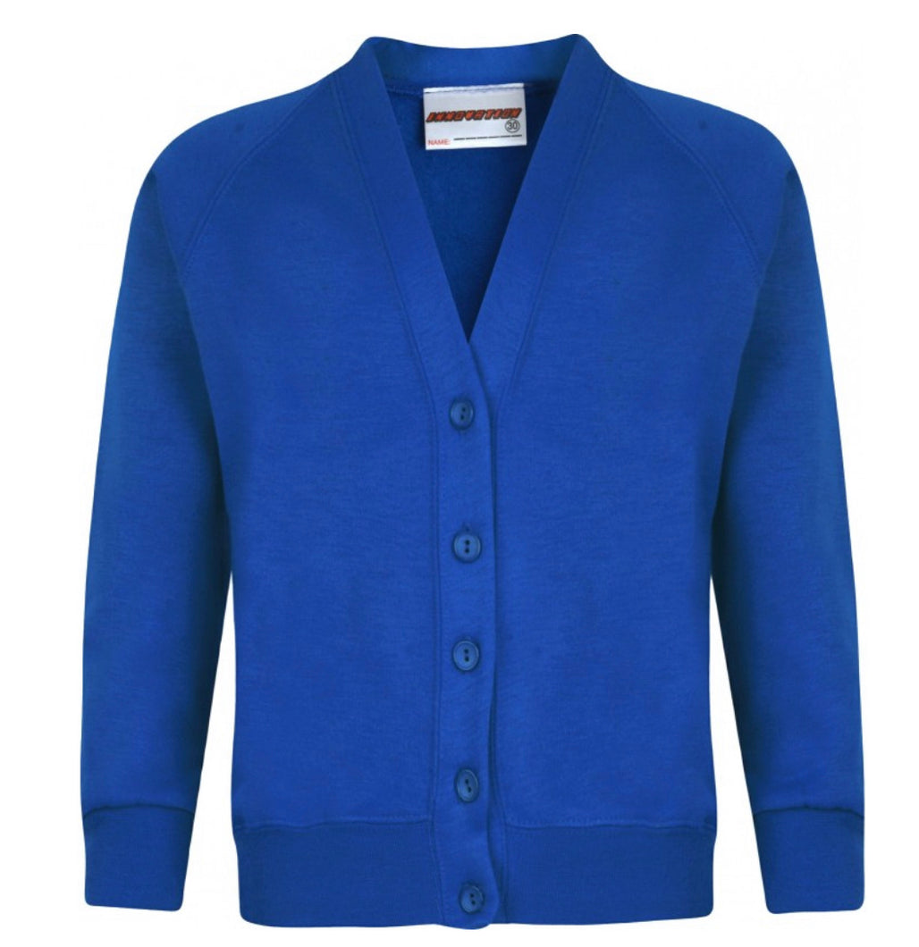 Roskear School Sweat Embroidered Cardigan From £12.99