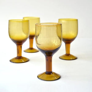 Dassie Artisan Ani Amber Wine Glass - Sands Boutique clothing and gifts