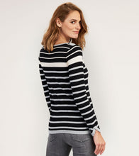 Hatley Breton Sweater - Black and Grey Stripes - Sands Boutique clothing and gifts