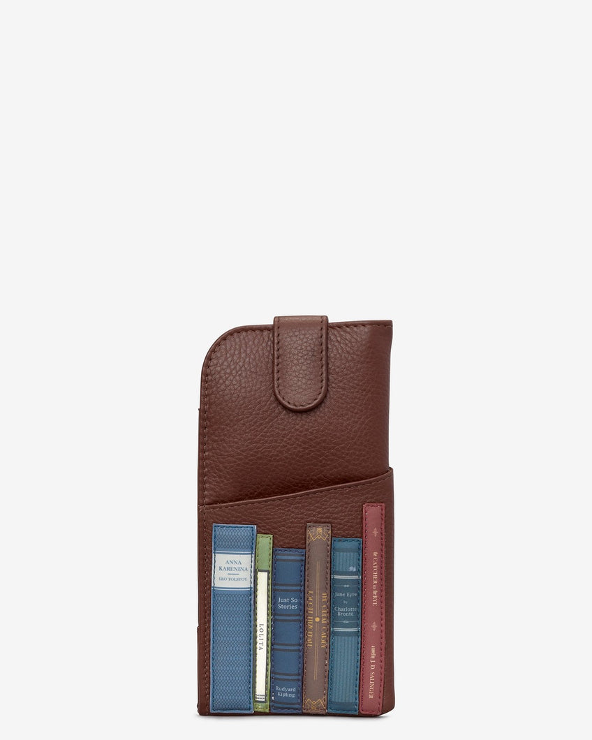 Yoshi Bookworm Brown Leather Chilton Glasses Case