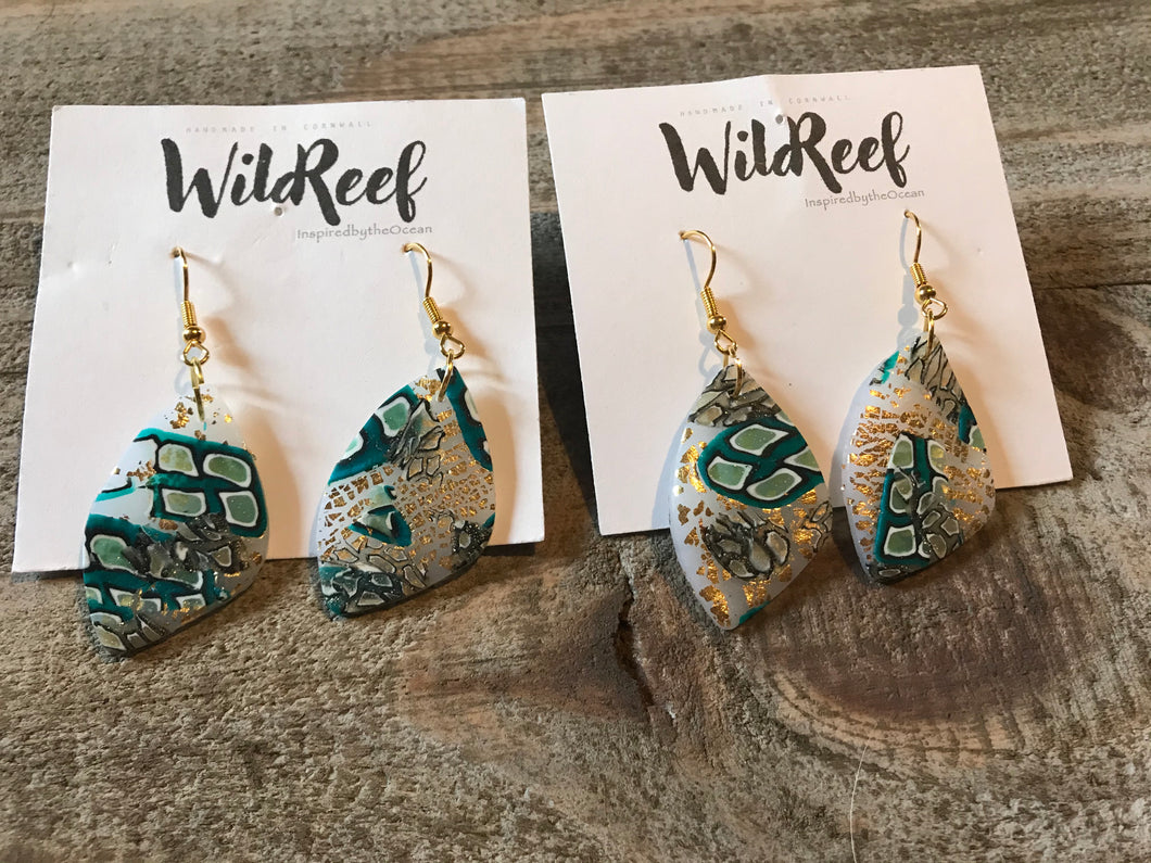 Wild Reef Earrings- Underwater inspired