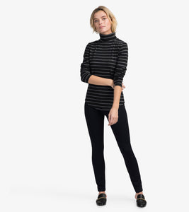 Hatley Turtleneck - Black & Charcoal Stripes - Sands Boutique clothing and gifts