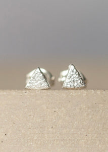 Handmade Sterling Silver Mini Triangle Studs
