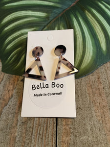 Bella Boo Tortoiseshell Triangle Earrings - Sands Boutique clothing and gifts