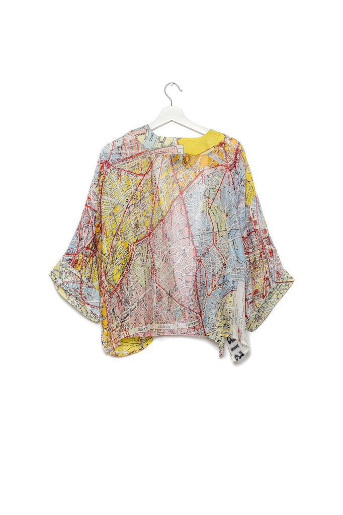 ONE HUNDRED STARS VALERIE PARIS MAP KIMONO - Sands Boutique clothing and gifts