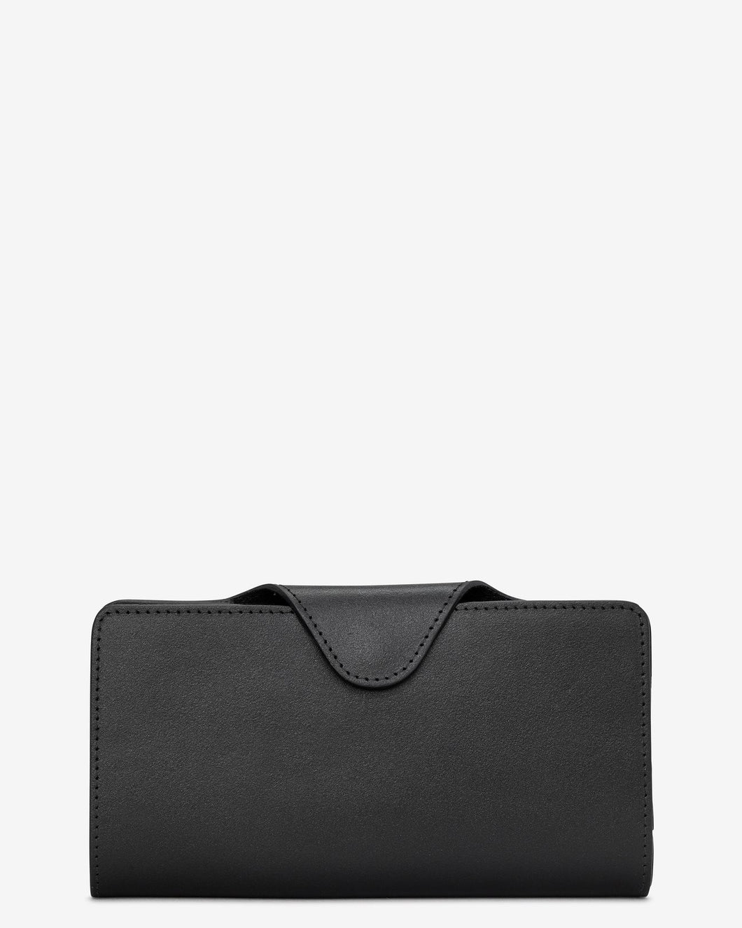 Yoshi Black Satchel Leather Purse - Sands Boutique clothing and gifts