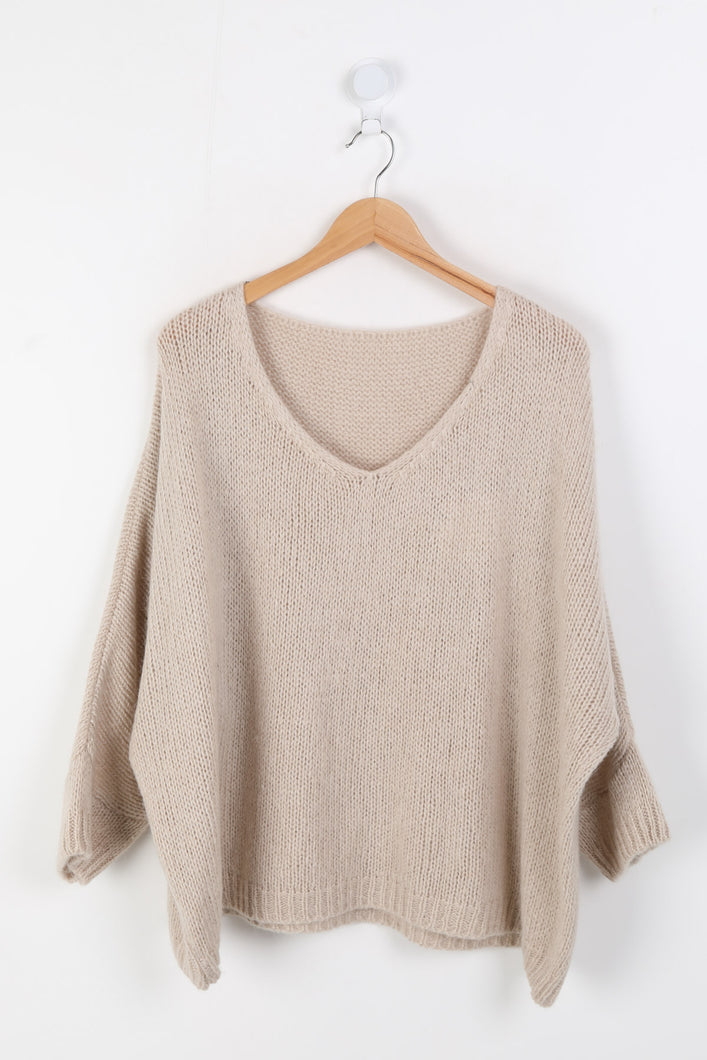 Cream Mohair Mix Sweater