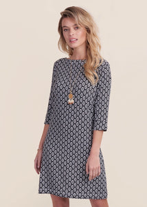 Hatley Lucy Dress - Distressed Triangle Black & White