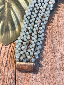 Envy Beautiful Aqua Beaded Bracelet - Sands Boutique clothing and gifts