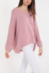 Soft Pink Mohair Mix Sweater