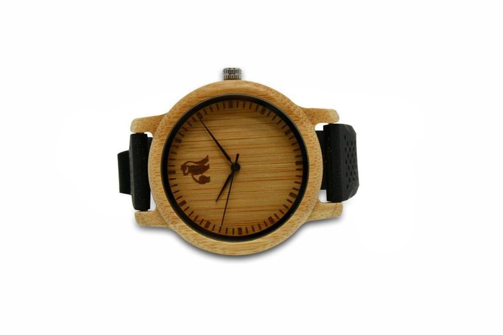 Swole Panda Minimalist Bamboo Black Watch - Sands Boutique clothing and gifts