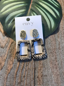 Envy Gold Circle and Animal Print Drop Earrings - Sands Boutique clothing and gifts