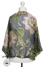 One Hundred Stars & KEW RBG Passion Flower Grey Kimono - Sands Boutique clothing and gifts