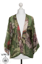 One Hundred Stars & KEW RBG Passion Flower Green Kimono - Sands Boutique clothing and gifts