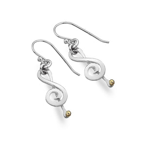 Silver Origins Treble Cleft Silver Earrings - Sands Boutique clothing and gifts