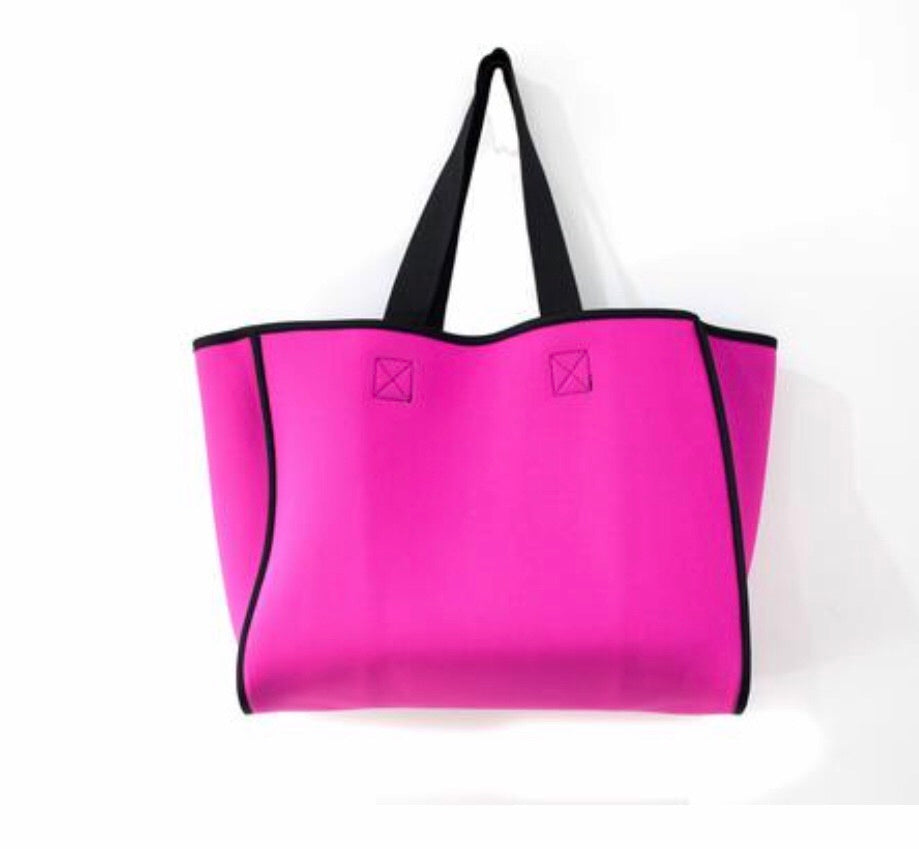 Punch Neoprene Reversible Tote bag charcoal/magenta - Sands Boutique clothing and gifts