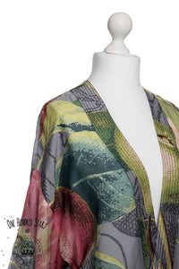 One Hundred Stars & KEW RBG Apples and Pears Grey Kimono - Sands Boutique clothing and gifts