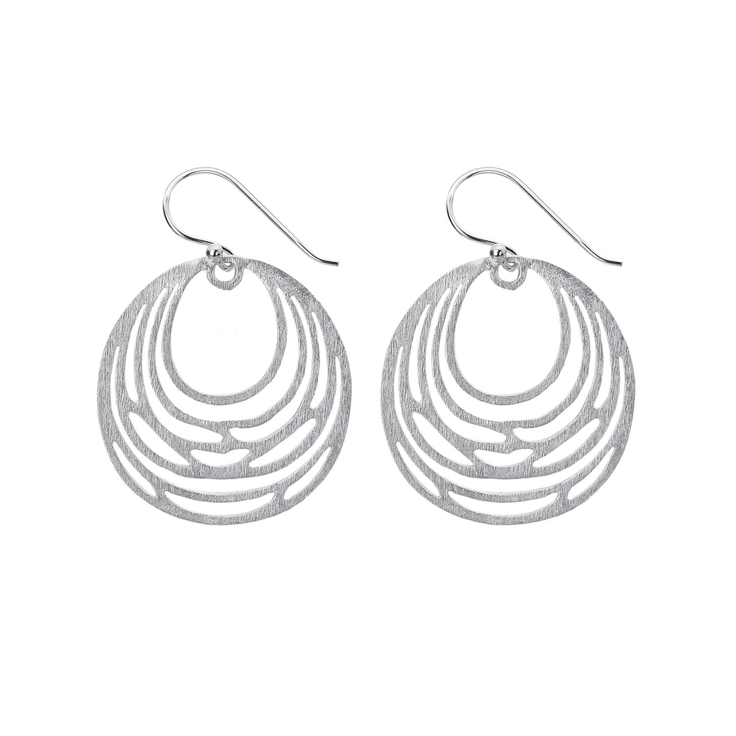 Silver Origins Brushed Circle Earrings - Sands Boutique clothing and gifts