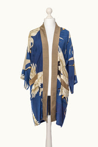 One Hundred Stars Stork Navy Collar Kimono - Sands Boutique clothing and gifts