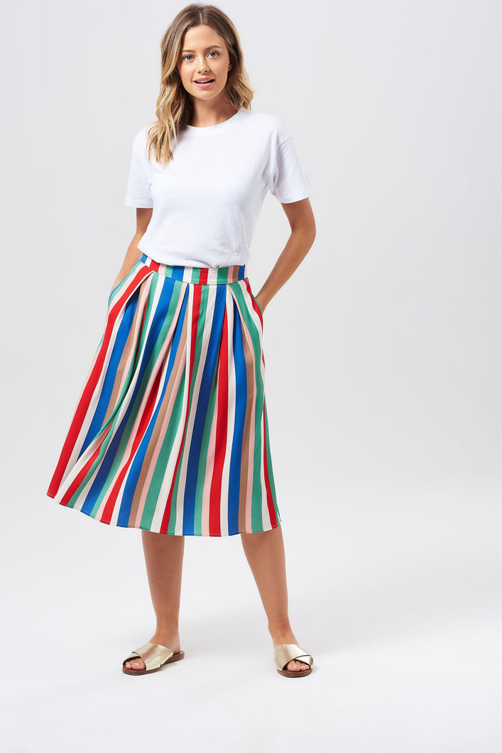 Sugarhill Brighton Payton Canaan's Stripe Midi Skirt - Sands Boutique clothing and gifts