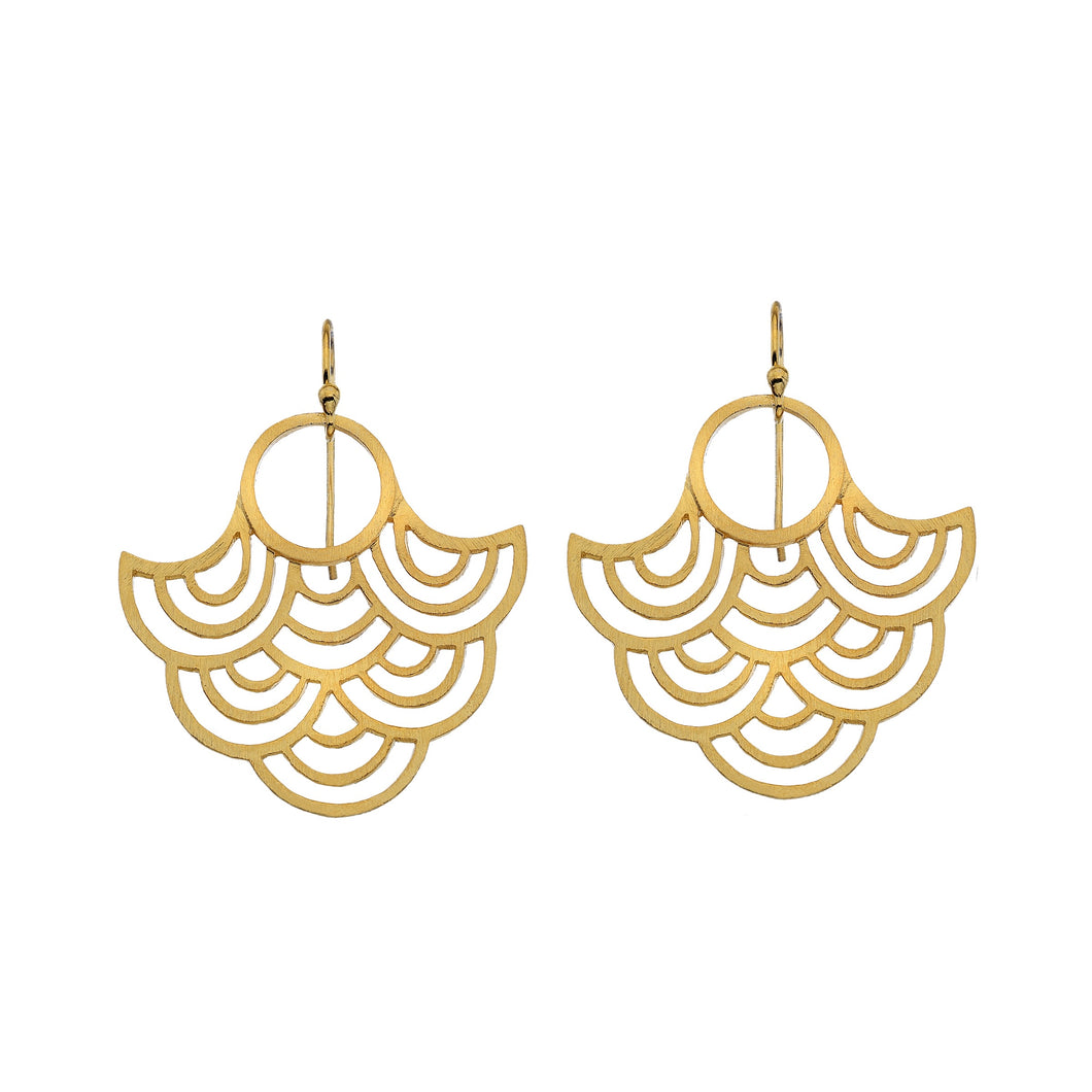 Silver Origins Gold Plated/Silver Circle Earrings - Sands Boutique clothing and gifts