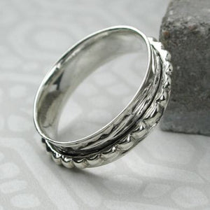 Sands Silver Spinning Ring with Dotty Band - Sands Boutique clothing and gifts