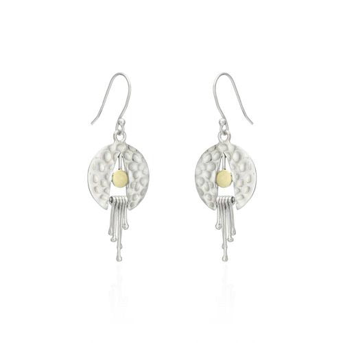 Sands Silver Disc Movement Earrings