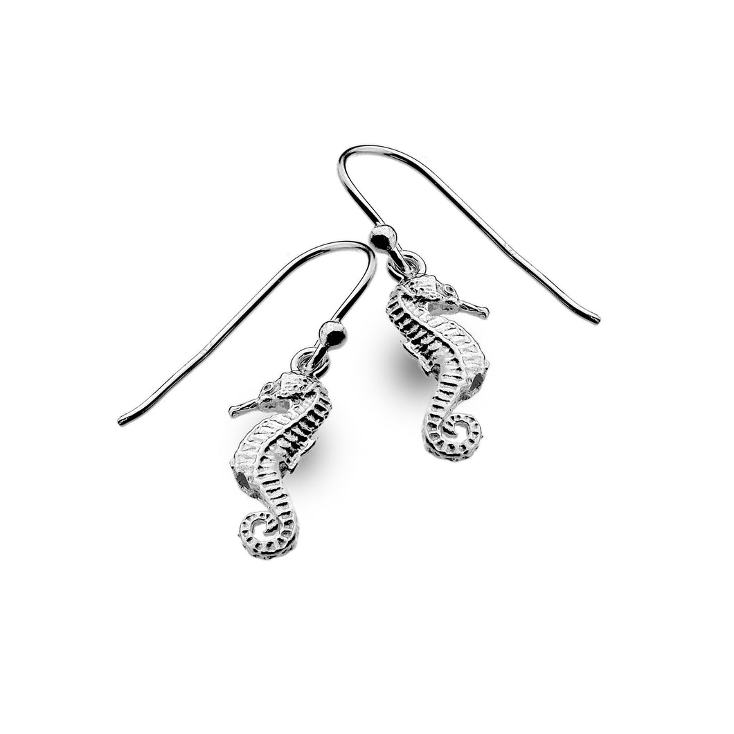 Silver Origins Double Sided Seahorse Earrings