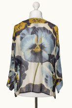 One Hundred Stars Blue Pansy Kimono