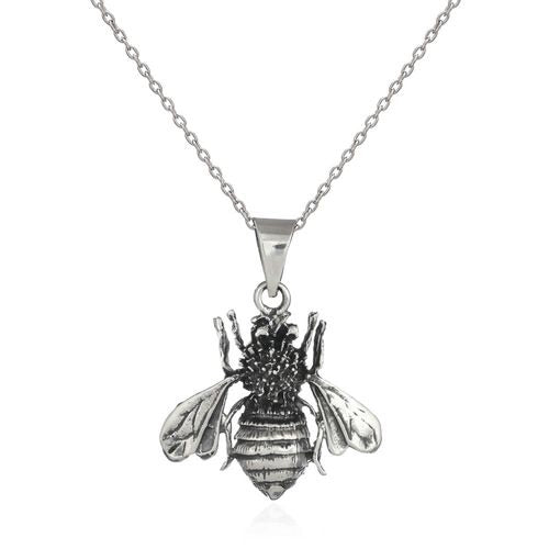 Sands Silver Bee Pendant - Sands Boutique clothing and gifts