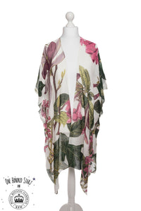 One Hundred Stars & KEW RBG Magnolia White Throwover - Sands Boutique clothing and gifts