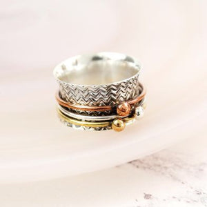 Sands Silver Triple Ball Spinner Ring - Sands Boutique clothing and gifts