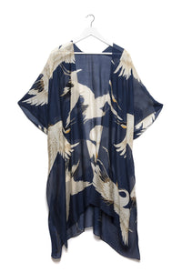 One Hundred Stars Stork Navy Throwover - Sands Boutique clothing and gifts