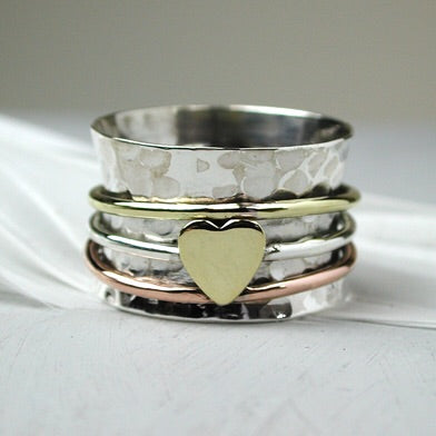 Sands Silver Heart Spinner Ring - Sands Boutique clothing and gifts